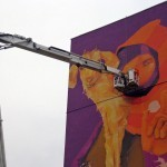INTI New Mural In Progress For Fundacja Urban Forms In Lodz, Poland