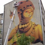 INTI New Mural In Progress, Lodz, Poland
