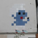 """Air Max Smurf"" and more fresh invasions by Invader in Paris, France"