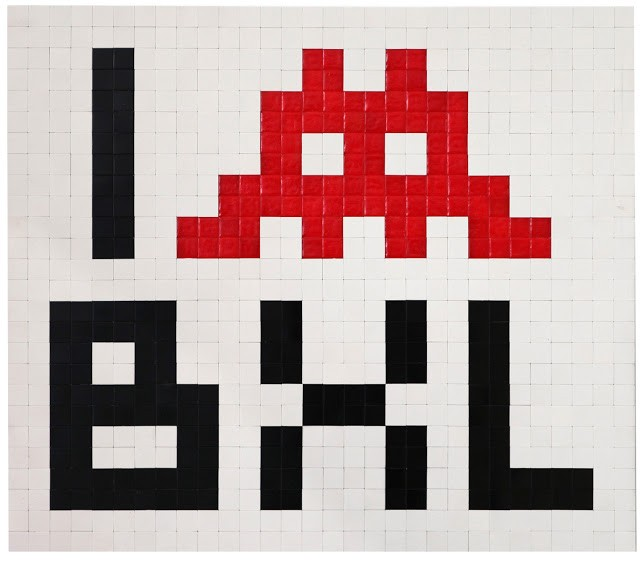 "Invader ""Derives"" Brussels Solo Show Preview"