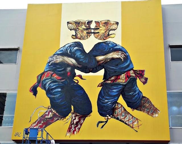 JAZ New Mural In Lima, Peru