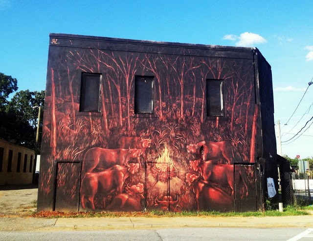 Jaz new mural in atlanta usa streetartnews streetartnews for Atlanta mural artist