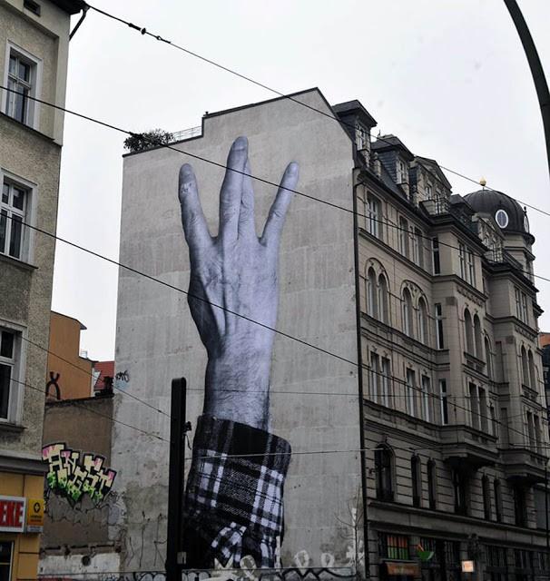 JR New Mural In Berlin, Germany