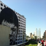 JR New Mural In Progress NYC
