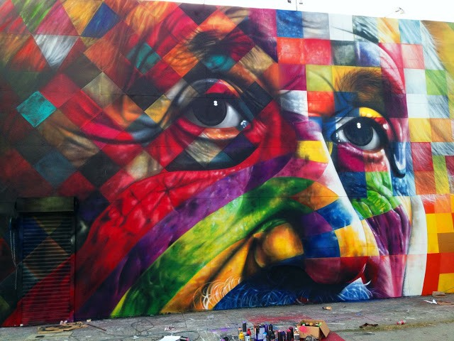 Eduardo Kobra New Mural In Los Angeles, USA