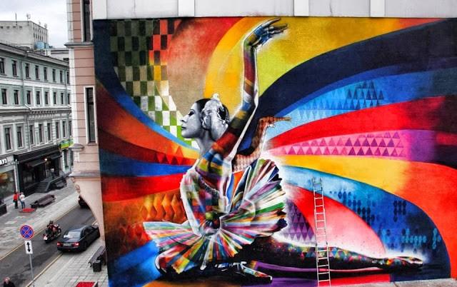 "Kobra ""The Dancer"" New Street Art – Moscow, Russia"