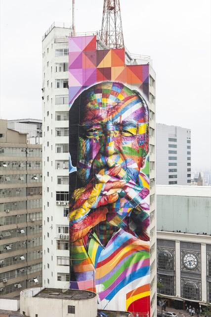 Eduardo Kobra New Mural In Sao Paulo, Brazil