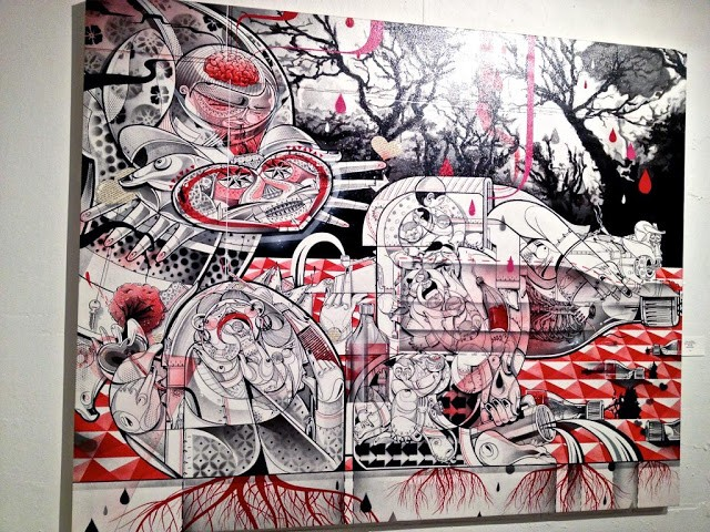 """""""LA Freewalls Inside"""" Los Angeles Group Show Opening Coverage"""