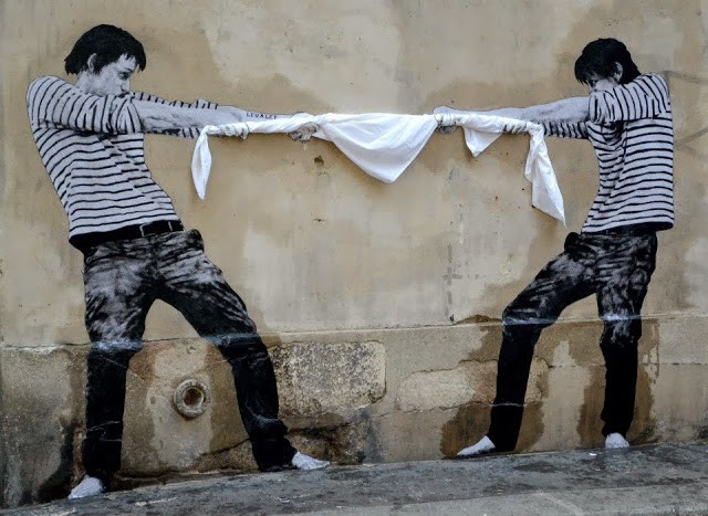Levalet New Street Piece - Paris 3rd, France | StreetArtNews