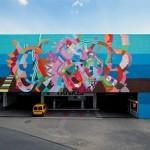 Maya Hayuk New Mural In Koln, Germany