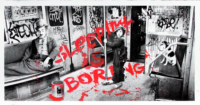 "Mr Brainwash ""Sleeping Is Boring"" New Print Available Today"
