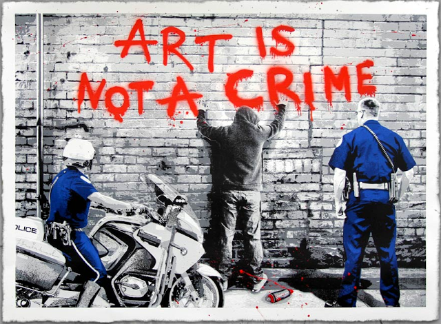 "Mr Brainwash ""Art Is Not A Crime"" New Print Available June 18th"