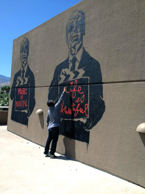 Mr Brainwash New Murals In Palm Springs, USA