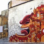 "Mr Thoms ""The Scream Of Vallicaldi"" New Street Art – Agrigento, Sicily"