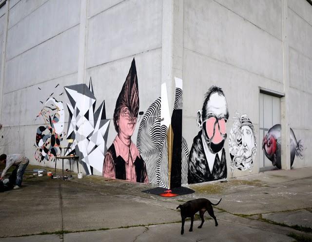2501 x Kalinda x Centina x Vine x Giorgio Bartocci x SeaCreative x Refresh Ink New Mural In Parma, Italy