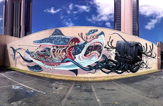 Nychos x Jeff Soto New Mural In Honolulu, Hawaii