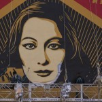 "Shepard Fairey ""Paz Y Libertad"" New Mural In Progress – Malaga, Spain"