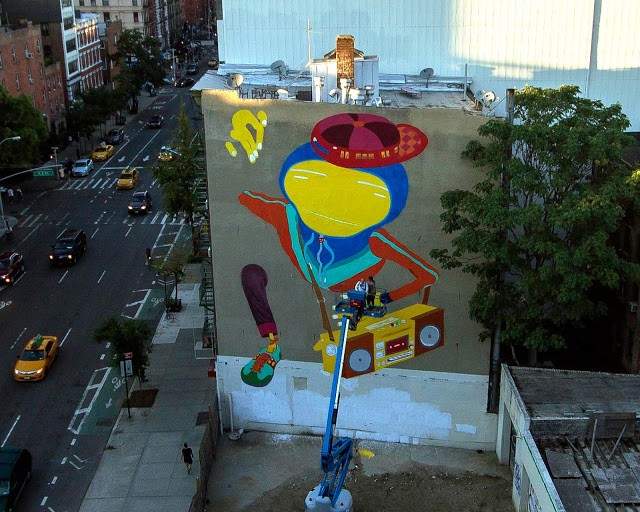 Work in Progress By Os Gemeos in New York City