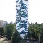 Pantonio creates a massive mural in Kiev, Ukraine