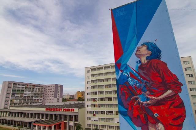 Bezt x Pener New Mural In Kosice, Slovakia