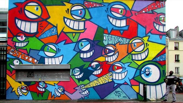 PEZ New Mural In Paris, France
