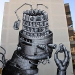 Phlegm New Mural In Ibiza, Spain