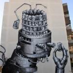 Phlegm New Mural In Ibiza, Spain