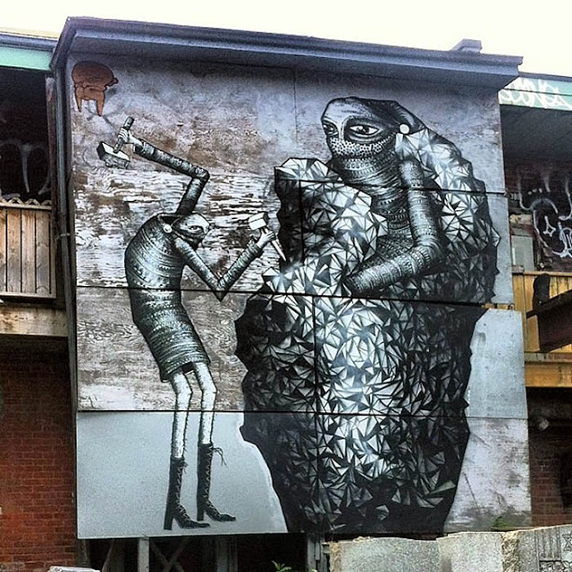 Phlegm New Mural In Montreal, Canada