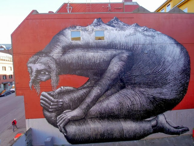 Phlegm New Street Art – Bodø, Norway