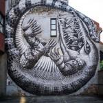 Phlegm New Mural In Oslo, Norway