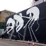 Phlegm New Mural In Progress, London, UK