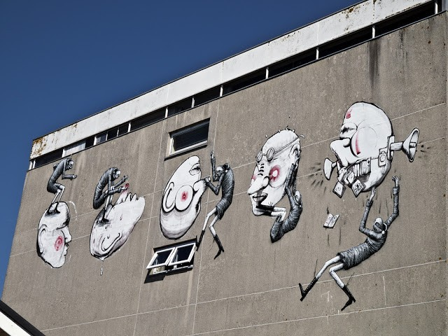 Phlegm x RUN New Mural In Chichester, UK