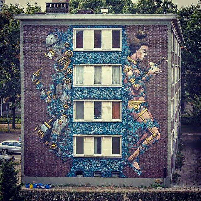 Pixel Pancho New Street Art For Day One Festival – Antwerp, Belgium