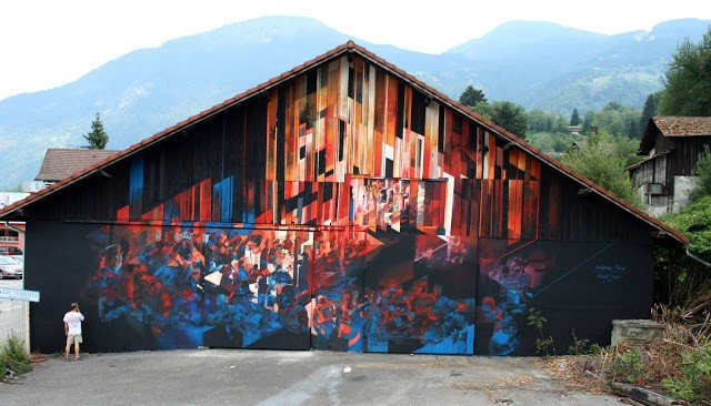 """Entering Babel"", a new piece by Robert Proch in Saint-Gervais, France"
