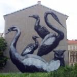 ROA New Mural In Progress, Vienna