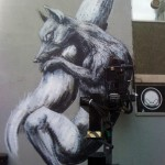 ROA New Mural In Progress, Bristol