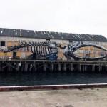 ROA New Mural In Progress, Vardø, Norway