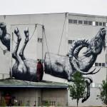 ROA New Mural In Linz, Austria
