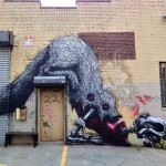 ROA New Mural In New York City, USA