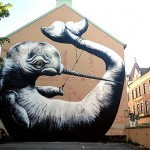 ROA New Mural In Örebro, Sweden