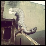 ROA New Mural In Progress, Lodz, Poland