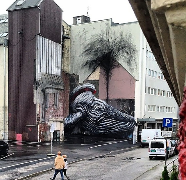ROA New Mural In Stavanger, Norway