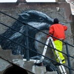 ROA New Mural In Botkyrka, Sweden