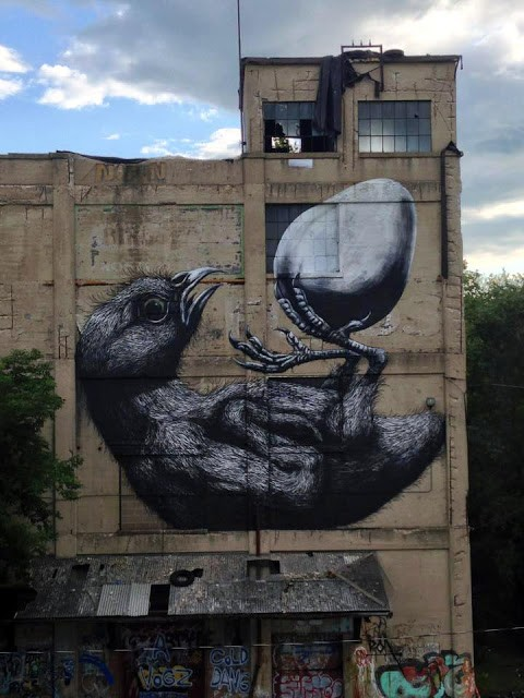 ROA New Mural In Rochester, USA