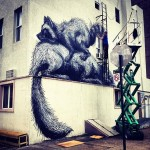 ROA New Mural In Progress, New York City