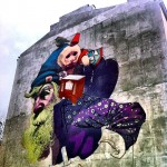 Sainer x Bezt New Mural In Progress, Warsaw, Poland