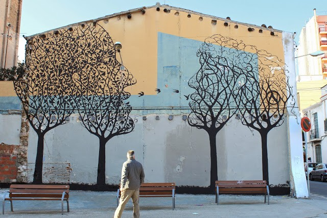 "Sam3 ""Park"" New Mural – Barcelona, Spain"