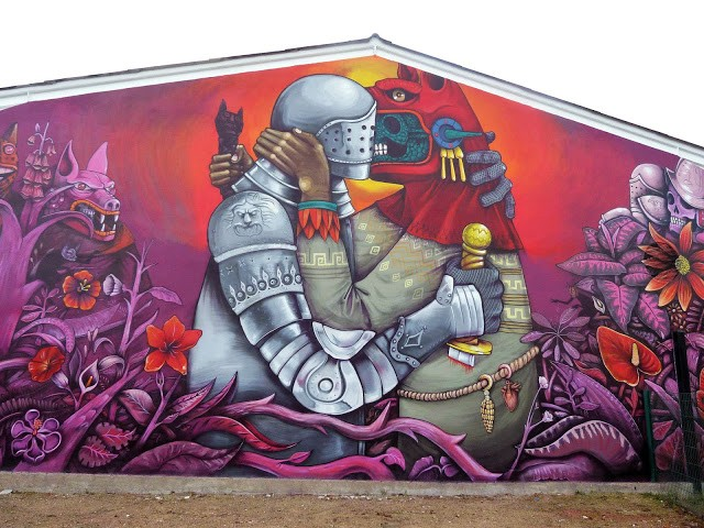 Saner New Mural In Fleury Les Aubrais, France