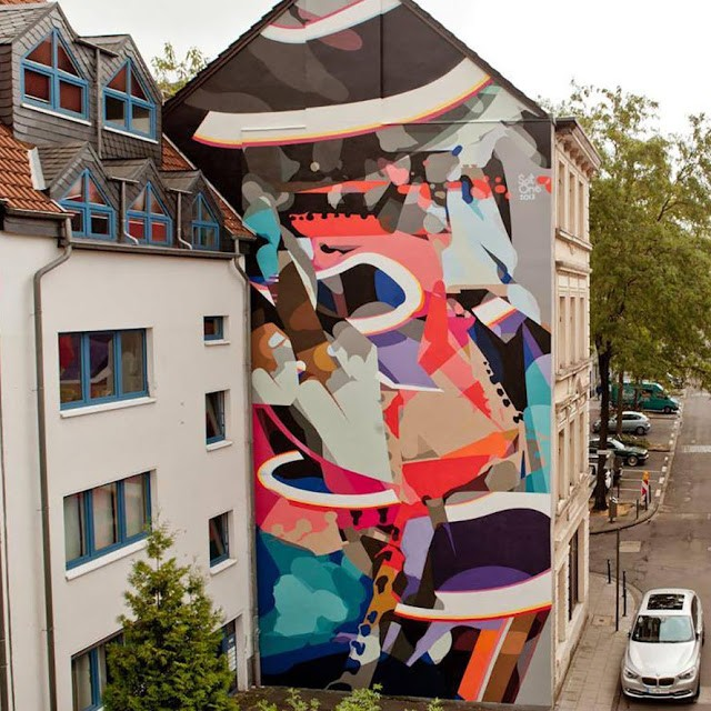 SatOne New Mural For CityLeaks '13 In Cologne, Germany