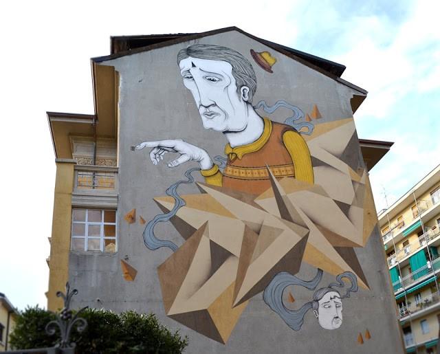 SeaCreative x Vine New Mural In Varese, Italy